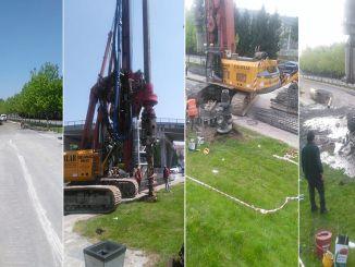 งานได้เริ่มขึ้นสำหรับเส้นทางตอนบนที่จะหยุดที่ป้ายรถราง Sekapark