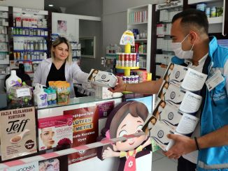 koronavirusl боротися в межах масок мільйонів були розподілені turkiyede