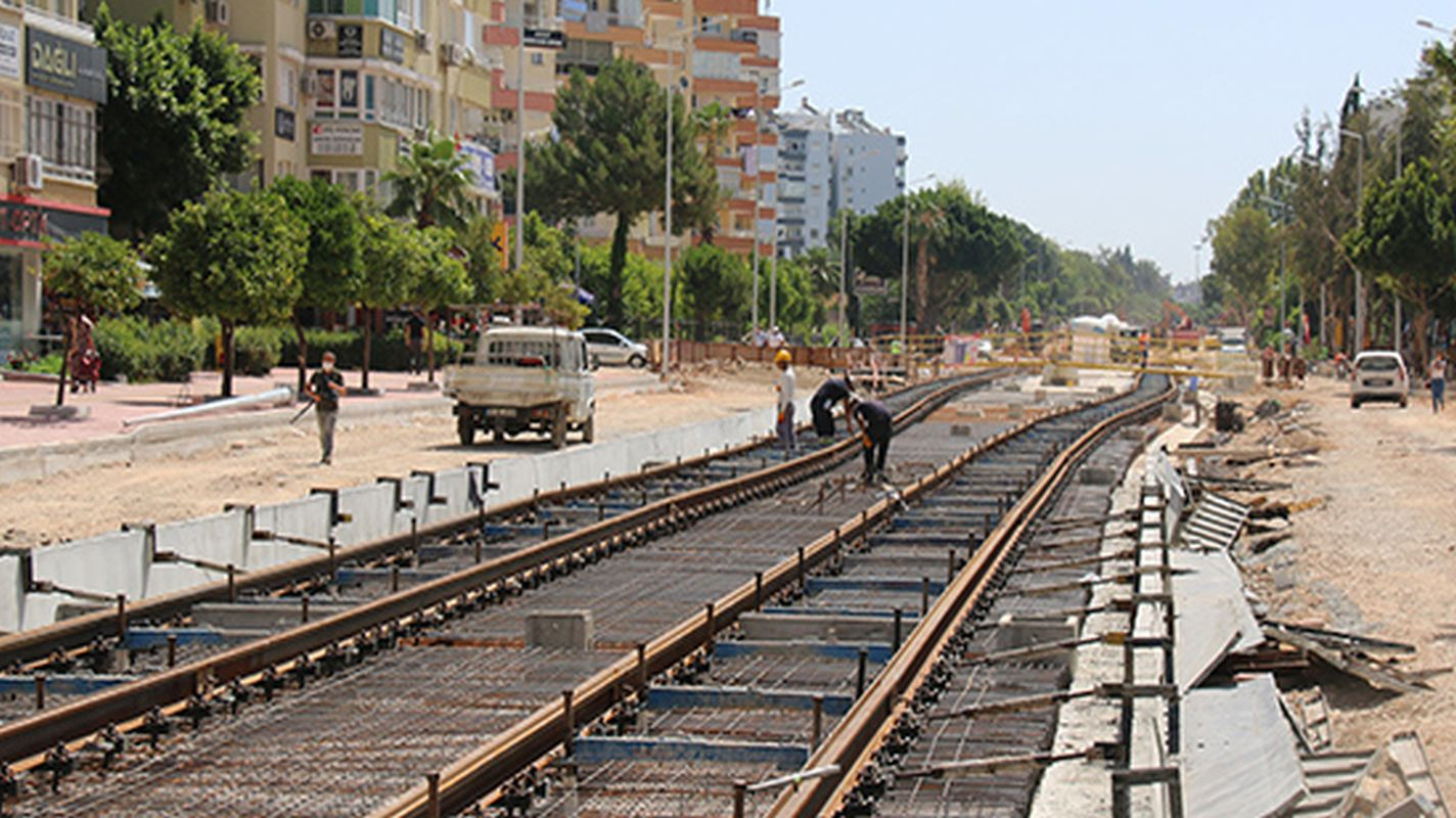 stage rail system project is progressing fast rails are being formed in the breeze