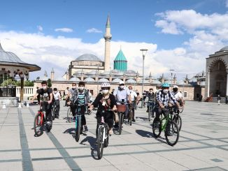 They Started From Konya Train Station, They Toured Konya By Bicycle