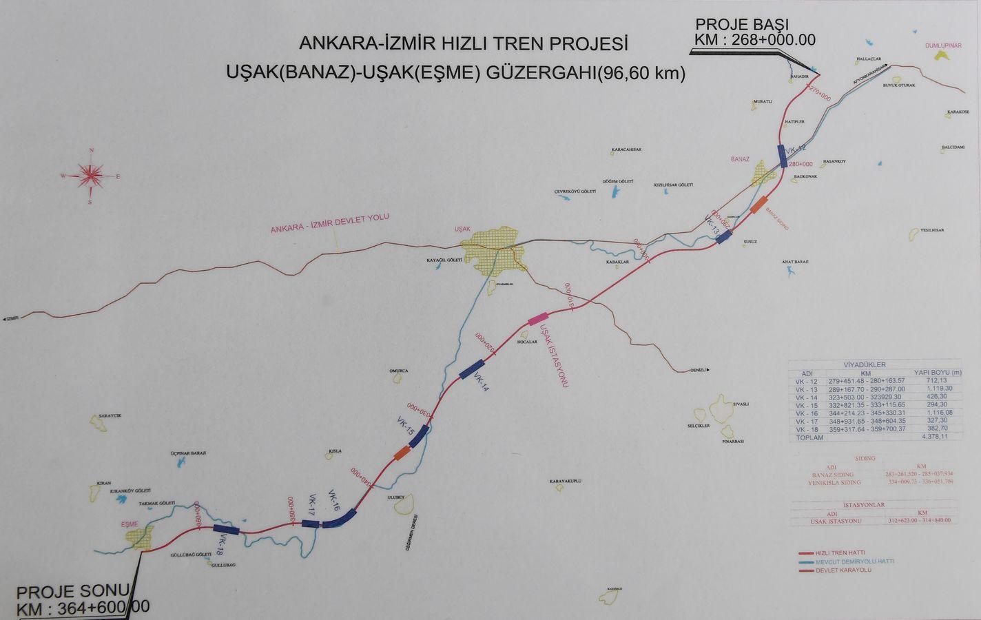 ankara izmir high speed train map