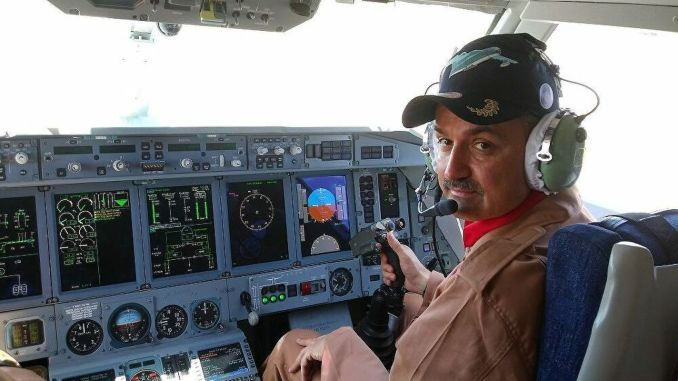minister tested the fire extinguisher plane