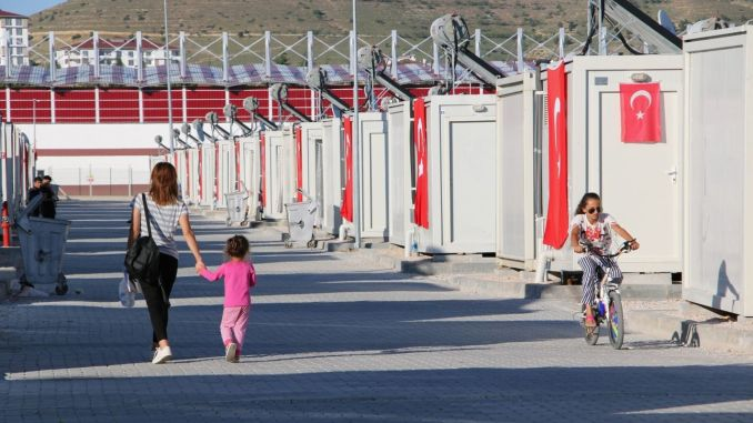 elazigda after the earthquake, a thousand families started to live in container houses