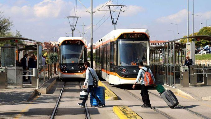 eskisehirliler dikkat otogar tramvay seferleri durduruluyor