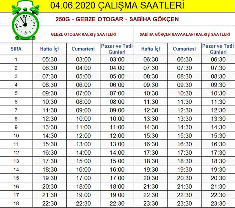 line g schedules