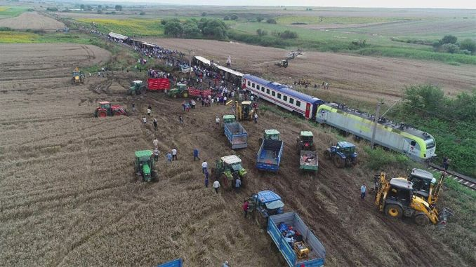 Examination of the trial of suspect accident from corlu train