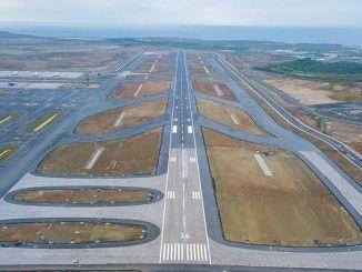 Istanbul lufthavn ligger på den tredje procent af den tredje bane