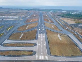 Istanbul airport is on the third percent of the third runway