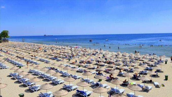 The beach season in Istanbul opens in June