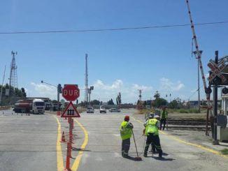 Железнодорожные пути и железнодорожные переезды в Мерсине,