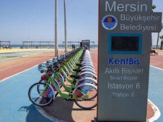 Cykelanvändning i Mersin var vanligt med kentbis