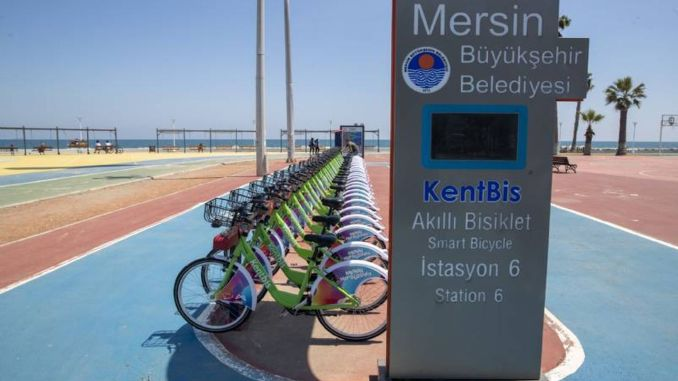 Bicycle use in Mersin was common with kentbis