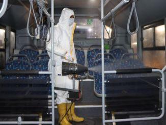 public transport vehicles are disinfected every day