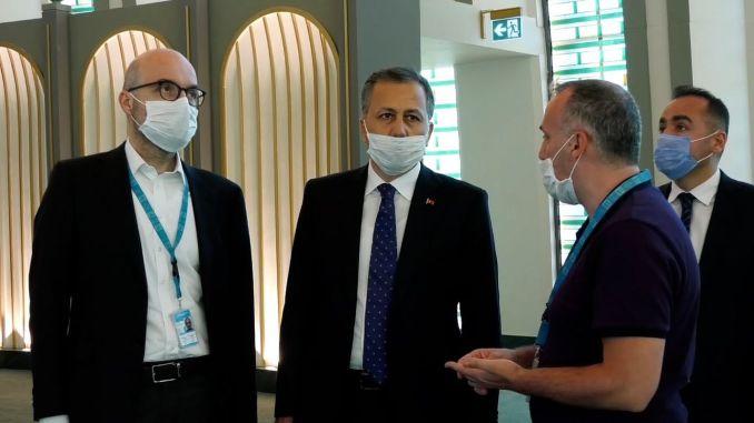 Gouverneur Yerlikaya untersuchte den Flughafen Istanbul
