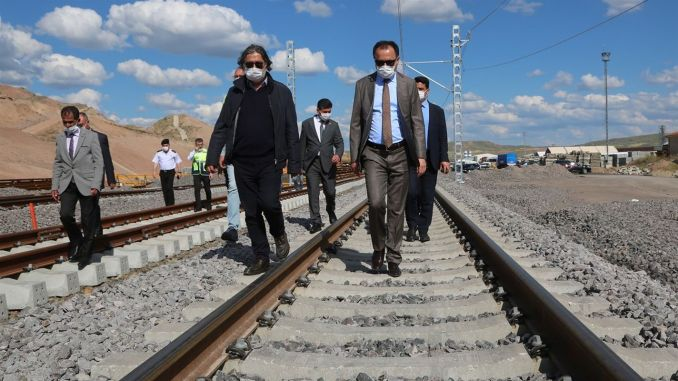 yozgat governor examined cakir high speed train and airport construction