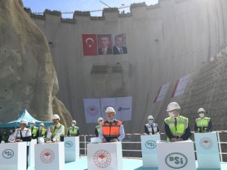 Yusufeli Dam millionth concrete weaving ceremony was held