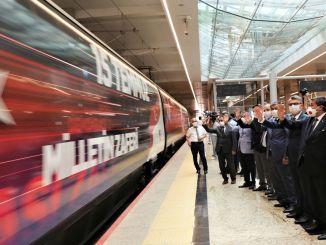 Τον Ιούλιο ξεκίνησε το τρένο δημοκρατίας και εθνικής ενότητας ankara yht gardan