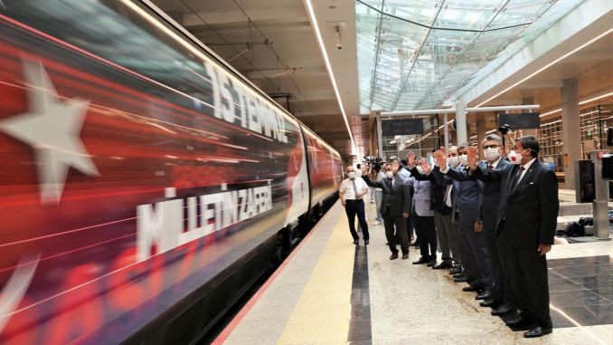 July democracy and national unity train ankara yht gardan was launched for the first time