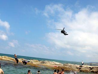 מסוק סייע בבדיקת חוף מג'נדרמריה