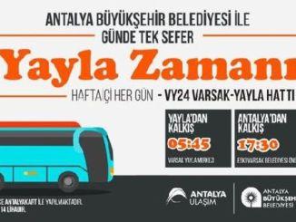 Wann beginnen die Busfahrpläne für das Varsak-Plateau?