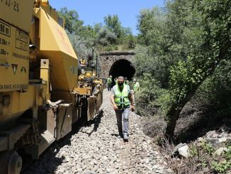 Leveling works started in Afyon character railway tunnels