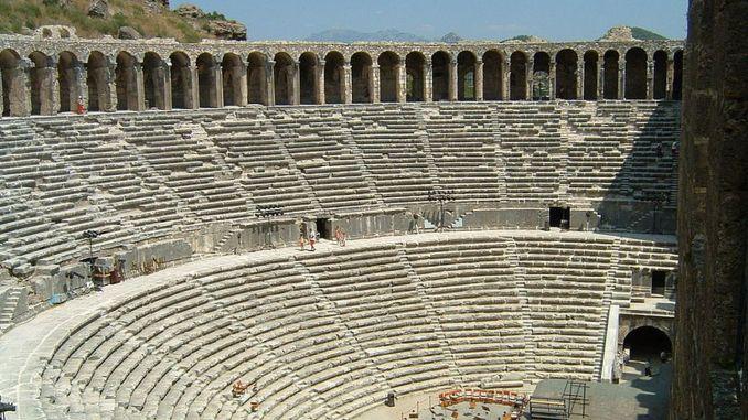 aspendos theatergeschiedenis en functies