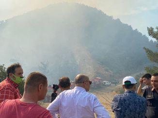 L'incendie de forêt à Balcova a été partiellement maîtrisé