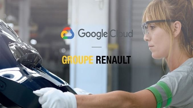 Important collaboration for industry from groupe renault and google cloud