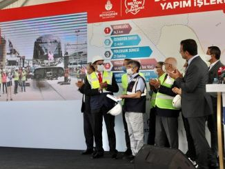 imamoglu dudullu bostanci restarted work on the metro line