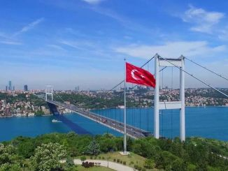 The second neck of Istanbul, Fatih Sultan Mehmet is at the bridge