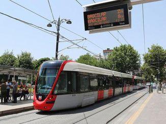 trams run by kabitas bagcilar returned to normal after a break
