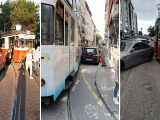 Faulty parking obstacle to kadikoy fashion tram services