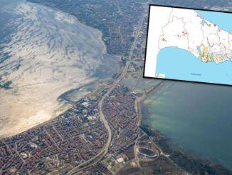 area longsor terdeteksi pada rute istanbul kanal