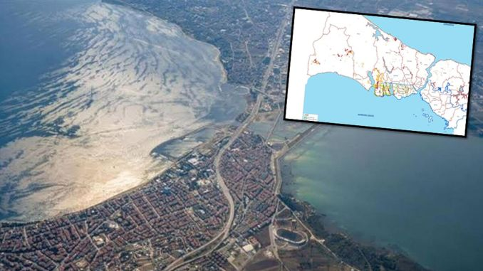 landslide area detected on canal istanbul route