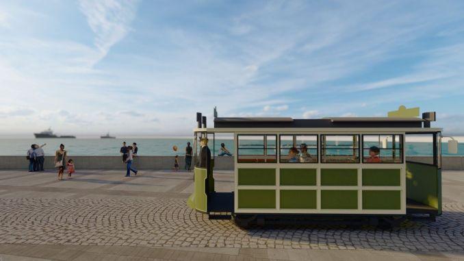 kordona nostaljik tramvay geliyor