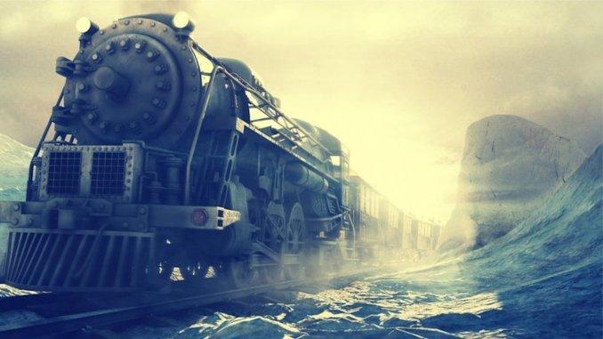 a train ride like a dream