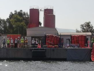 Exercice d'intervention d'urgence contre la pollution marine du port d'izmir tcdd