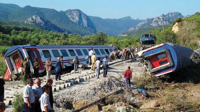 positive train accident in Turkey three times the world average