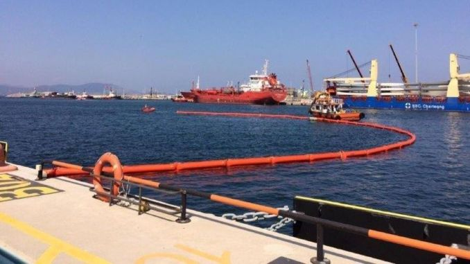 uzmar aliaga nemrut held an exercise at the dark socar terminal
