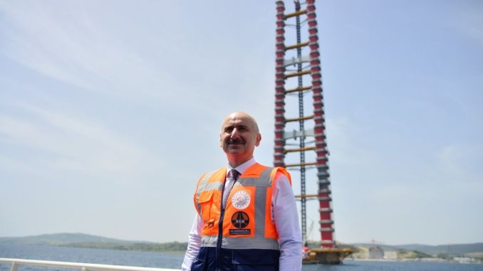 When will the Canakkale Bridge be put into service?