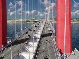 1915Çanakkale橋的設計,長度和最新狀態