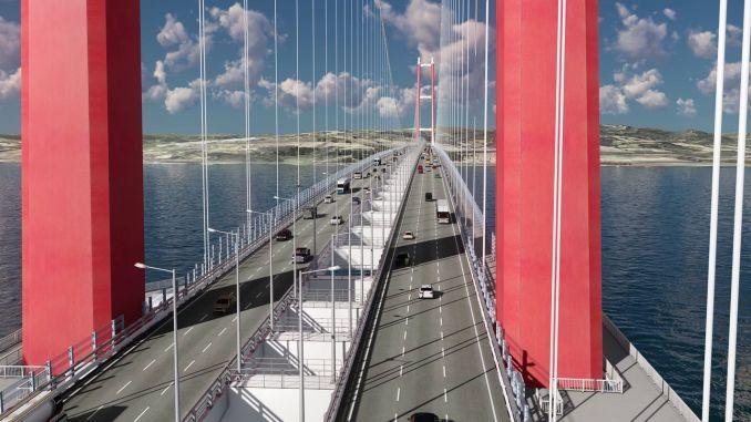 1915 г. Дизайн на моста Чанаккале, дължина и последно състояние на моста