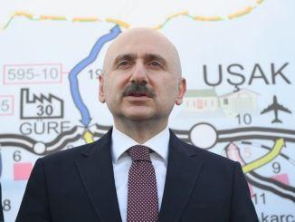 Karaismailoglu miniszter megvizsgálta Usak Cevre útépítését