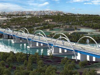 State Garden Bridge, ημιτελής για χρόνια στην Adana, πηγαίνει στην προσφορά