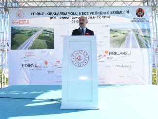 Edirne kirklareli road kilometer incremental section opened