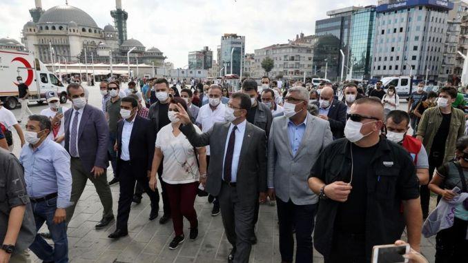 Ekrem İmamoğlu Taksim разследва парка Gezi!