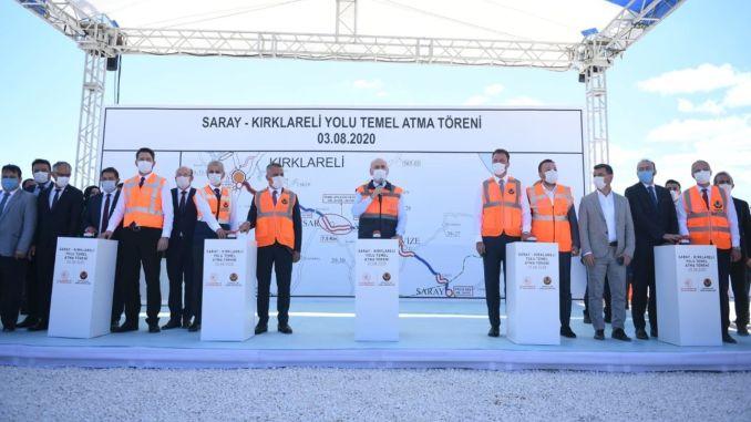 הארמון karaismailoglu מצטרף לשטח הקמת הכביש קירקללי