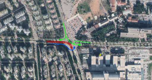 The intersection of the meltem boulevard and the tarik akiltopu street will be closed