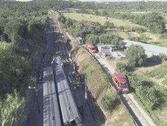 gyors vonat-ütközés Portugáliában megsérült