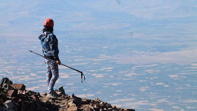 Erciyes prvý vrchol na vrchol hory v Turecku sa začal